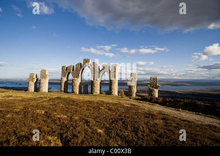 Fyrish Monument on Fyrish Hill in Easter Ross overlooking the Cromarty Firth - Stock Image