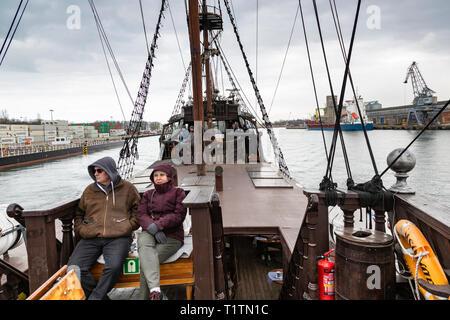 Czarna Perla Galleon Tour boat, Gdansk, Poland - Stock Image