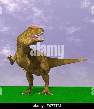 Dinosaurier Allosaurus / dinosaur Alioramus - Stock Image