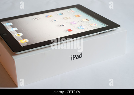 The iPad 2 is the second generation of the iPad, the digital tablet is developed and marketed by Apple. Released - Stock Image