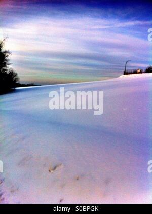 Snow covering ground - Stock Image
