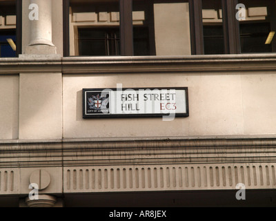Fish Hill Street London EC3 - Stock Image