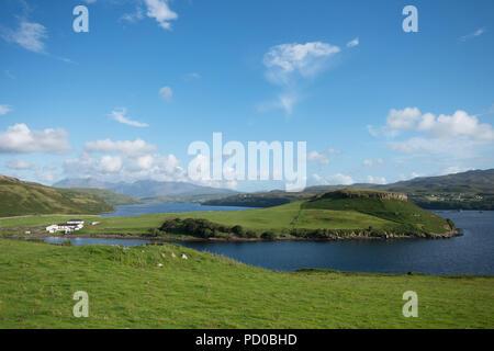 Gesto Bay on Loch Harport, Isle of Skye, Scotland, UK - Stock Image