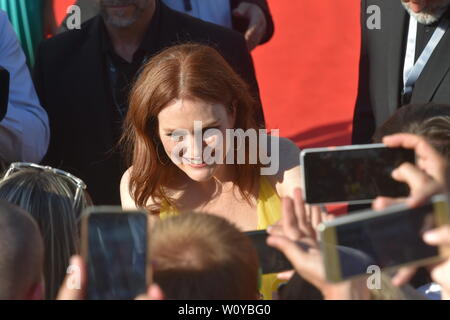 Karlovy Vary, Czech Republic. 28th June, 2019. US actress Julianne Moore arrive to the opening ceremony of the 54th Karlovy Vary International Film Festival begins on June 28, 2019, in Karlovy Vary, Czech Republic. Credit: Slavomir Kubes/CTK Photo/Alamy Live News - Stock Image