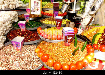 Street food in Jaipur, Rajasthan, India - Stock Image