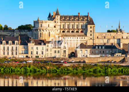 Chateau d'Amboise in Amboise city, Loire valley in France - Stock Image
