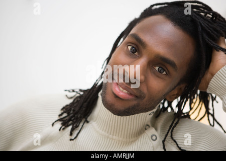 African man with dreadlocks - Stock Image