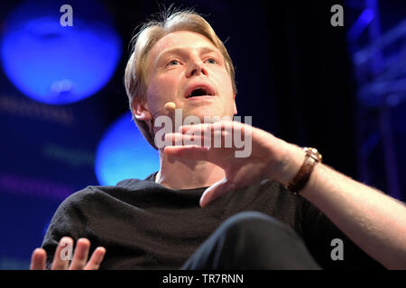 Hay Festival, Hay on Wye, Powys, Wales, UK - Thursday 30th May 2019 - Dr Rory Cormac on stage at the Hay Festival talking on the subject Licence to Kill? - Assassination in International Politics.  Photo Steven May / Alamy Live News - Stock Image