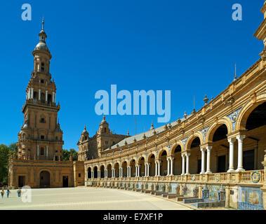 The public square Plaza de Espana - Stock Image