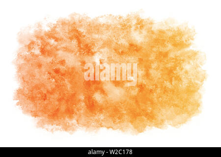 Pastel color autumn red abstract or natural watercolor paint background - Stock Image