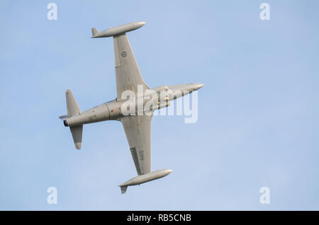 Norwegian Air Force Historic Flight Canadair CT-133 Silver Star 3 Canadian licence-built version of the American Lockheed T-33 Shooting Star - Stock Image