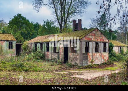 World war II prison of war huts, camp 116 from 1940. Hatfield Heath, Essex, England. - Stock Image