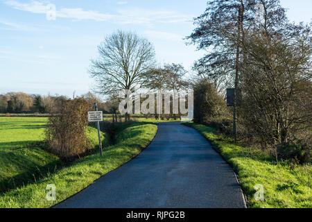 New road surface Fen Road Milton Cambridge December 2018 - Stock Image