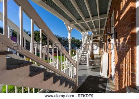 St Augustine Lighthouse and Maritime Museum at St Augustine Beach, Florida, USA - Stock Image