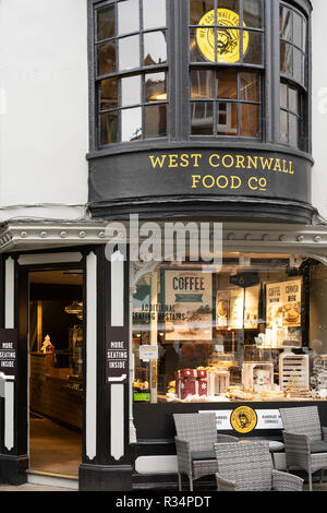 The West Cornwall Food Company on Winchester High Street, Hampshire, England - Stock Image