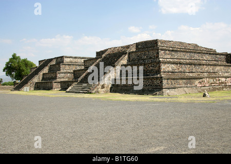 The Plaza of the Moon Teotihuacan Mexico - Stock Image