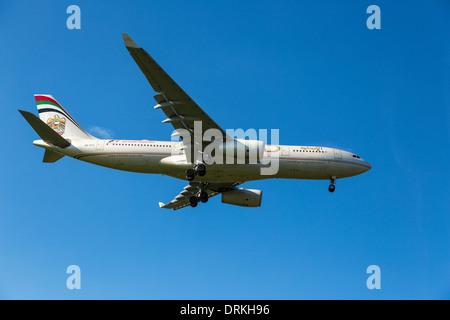 Etihad Airways Airbus A330 to land - Stock Image