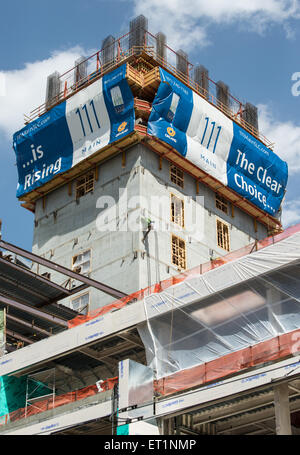 Urban Construction of New High-Rise Building in Downtown Salt Lake City, Utah - Stock Image
