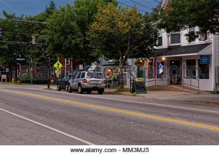 Main Street, Yarmouth, Cunberland County, Maine, USA - Stock Image