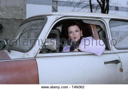 Susanne Schwab, deutsche Schauspielerin und Fernsehmoderatorin, Deutschland 1991. German actress and TV presenter Susanne Schwab, Germany 1991. - Stock Image