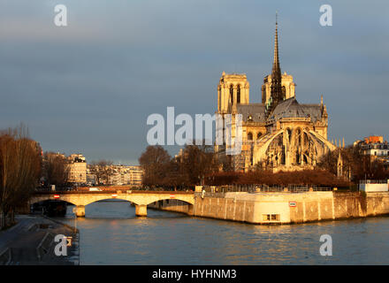 Notre Dame in Paris, France - Stock Image