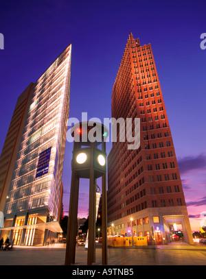 Berlin Potsdamer Platz skyline modern architecture - Stock Image