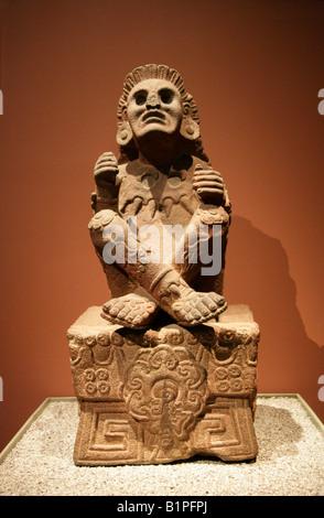 Statue of Xochipilli aka Macuilxochitl, Prince of Flowers God of Music, Aztec Art, National Museum of Anthropology, - Stock Image
