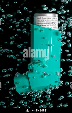 asthma inhaler air bubble concept - Stock Image