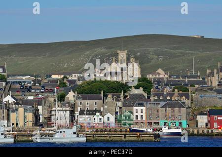 Lerwick waterfront, Mainland, Shetland Islands, Scotland, UK 180701_73751 - Stock Image