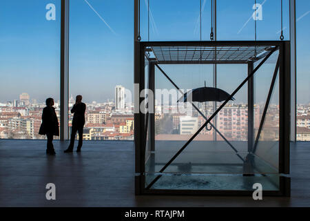 Damien Hirst's Tears for Everybody Looking at You (1997) in the new Torre building of Fondazione Prada, Milan, Italy - Stock Image