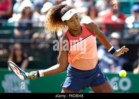 Naomi Osaka, Japanese female professional tennis player. Naomi Osaka won the 2018 US Open. - Stock Image