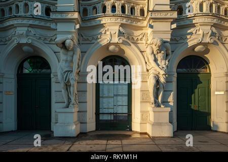 Facade of National Theatre in Riga. - Stock Image