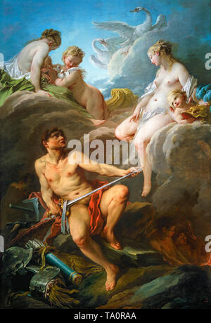 Venus Asking Vulcan for Arms for Aeneas, painting, François Boucher, 1732 - Stock Image