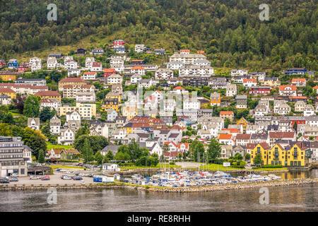 Houses Around The Harbour, Bergen Norway - Stock Image