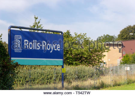 The Rolls-Royce aero-engine plant in East Kilbride, Scotland, UK. - Stock Image