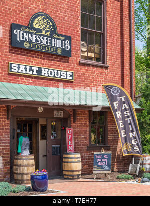 JONESBOROUGH, TN, USA-4/28/19: This building was built in 1840 by businessman William Crouch, and used as a general store and warehouse; then used in  - Stock Image