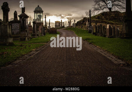 HIgh Kirk Graveyard, Stirling, Scotland - Stock Image