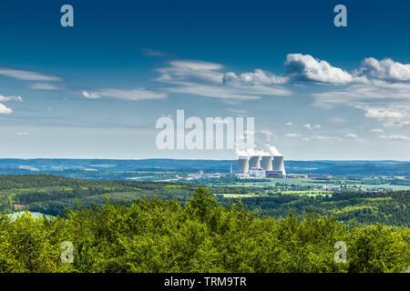 Nuclear power plant Temelin in Czech Republic. Europe. - Stock Image