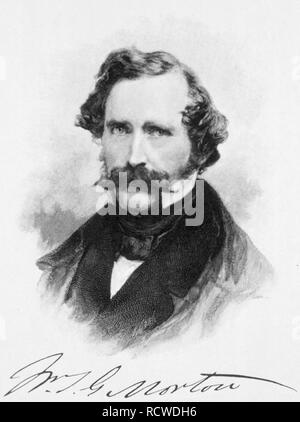 WILLIAM MORTON (1819-1868) American dentist who first publicly demonstrated ether as a surgical anesthetic in 1846 - Stock Image