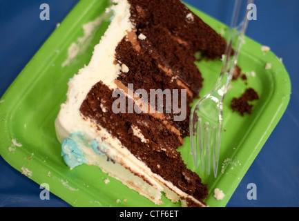 A piece of chocolate cake - Stock Image