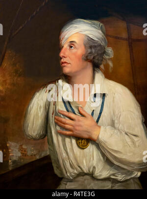 Rear-Admiral Sir Horatio Nelson, Wounded at the Nile, Guy Head, circa 1800, Battle of the Nile, - Stock Image
