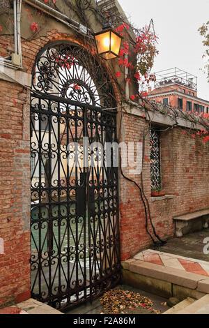 Garden water gate, Church of San Giorgio dei Greci, Venice, Italy - Stock Image
