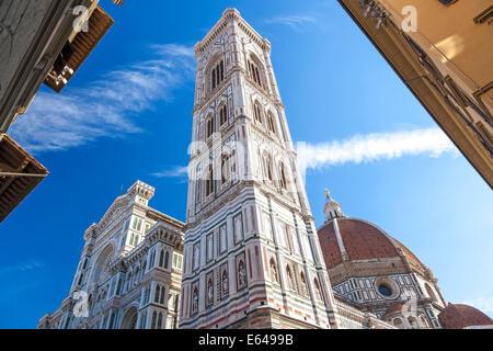 Tower of Duomo Campanile, Florence Tuscany Italy - Stock Image