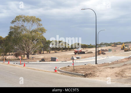 The development of a new suburb at Emu Bay on the north coast of Kangaroo Island, South Australia on January 20, 2018. - Stock Image