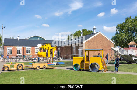 Children's playground at Royal Air Force Museum, Colindale, London Borough of Barnet, Greater London, England, United Kingdom - Stock Image