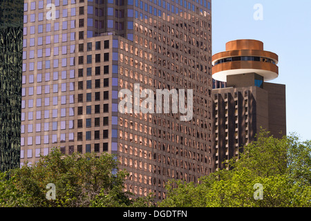 Spindletop Hyatt Regency Downtown city buildings Houston Texas USA - Stock Image