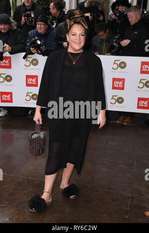 London, UK. 12th Mar, 2019. LONDON, UK. March 12, 2019: Lorraine Stanley arriving for the TRIC Awards 2019 at the Grosvenor House Hotel, London. Picture: Steve Vas/Featureflash Credit: Paul Smith/Alamy Live News - Stock Image