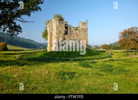 Hopton Castle Hopton Shropshire West Midlands England - Stock Image