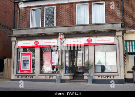 Wolsey Gardens Felixstowe Post Office building exterior, Suffolk England UK. - Stock Image