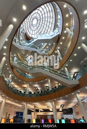 Interior of Central Library, Liverpool. - Stock Image